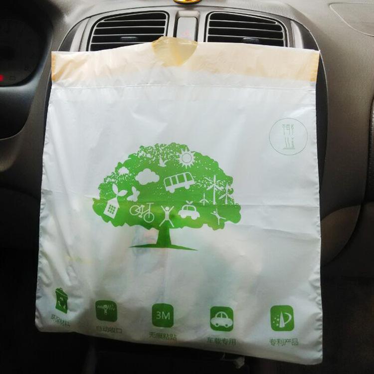 粘贴车载垃圾袋_车挂式汽车一次性专用垃圾袋